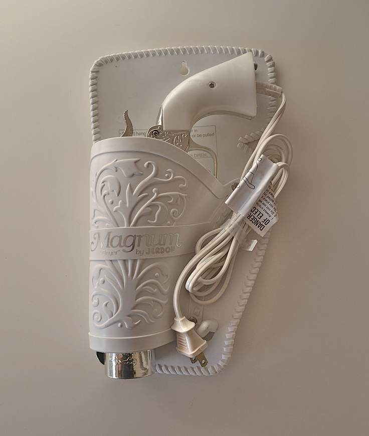 The 357 Magnum Gun Hair Dryer by Jerdon. $425.00, via Etsy.