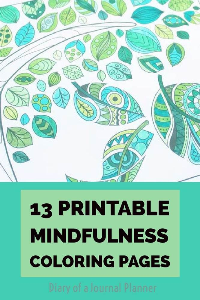 13 Free Printable Mindfulness Colouring Sheets Printables