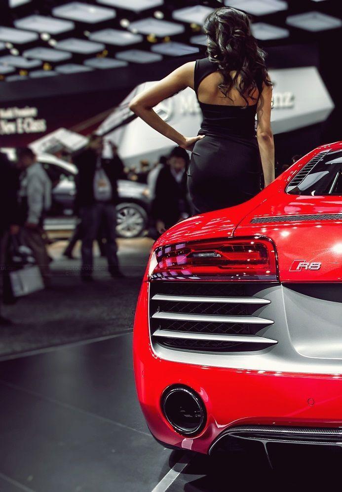 #Audi R8 & sexy model