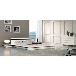 Sonata - White Platform Bed    - 1350.0000