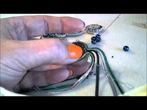 Peacock Green and Silver Soutache Watch Tutorial Part 1
