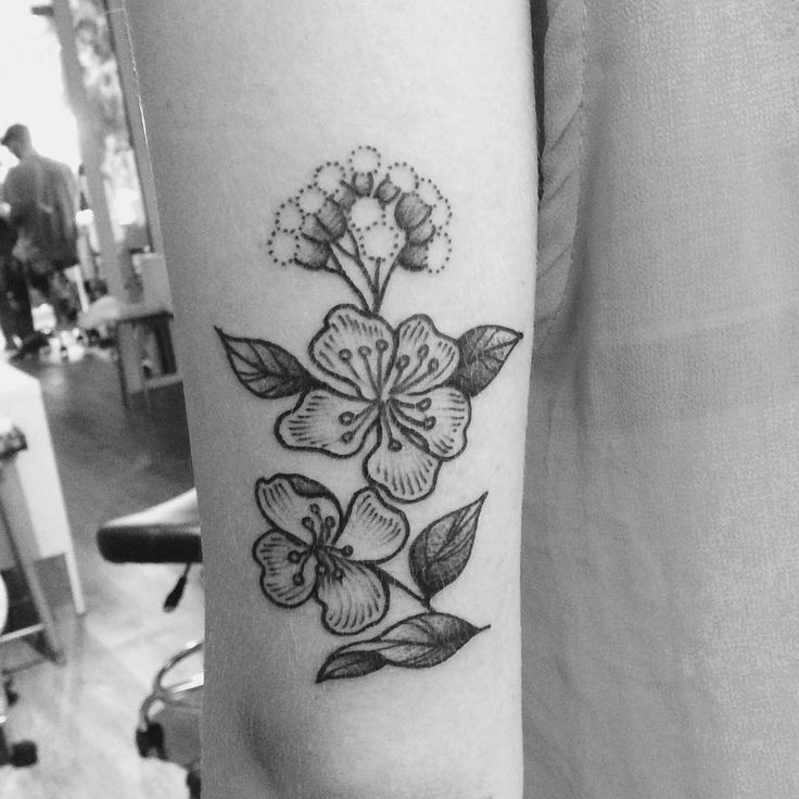 Merci Marine ! 🌸🌸 #tattoo #armellestb #black #blacktattoo #blackwork #blackworkers #flowerslovers #flower #flowers #flowerstattoo #flowerpower #flowermagic #floweroftheday #plants #engraving #engravingtattoo #engraved #blackart #blxckink #blacktattooart #blackworkerssubmission #tttism #vgnink #tattooisartmag #chezmémétattoo @chez_meme_paris #girlwithtattoos