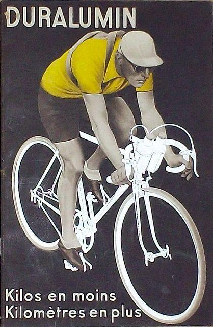 Duralumin retro 1930s poster Bicycle bike cycle sykkel bicicleta vélo bicicletta rad racer wheels illustration posters graphics design biking ride cycling riding