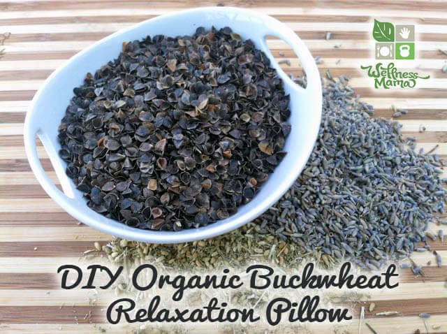 DIY buckwheat pillow