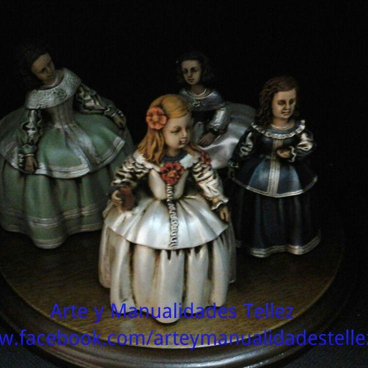 Meninas decoradas www.facebook.com/arteymanualidadestellez
