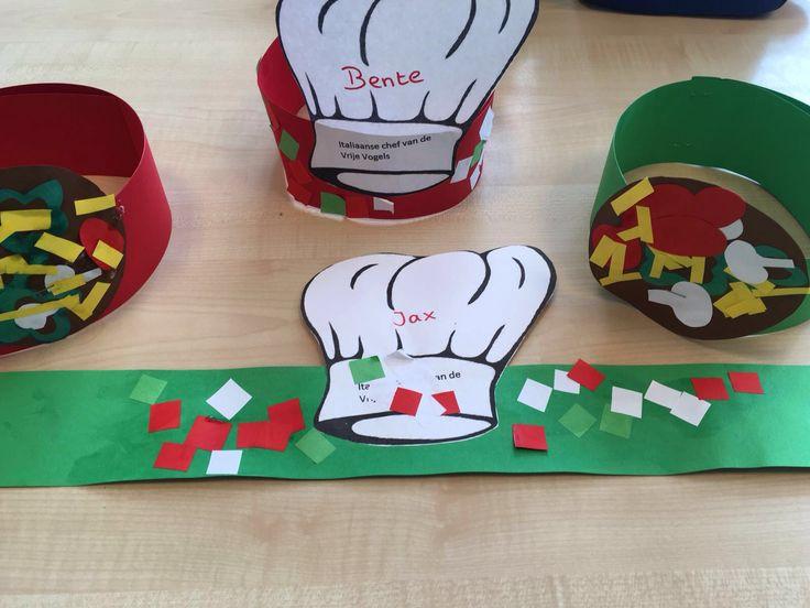 Eet smakelijk - koksmuts en Italiaanse muts