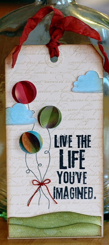 Dimensional balloons Bookmarks - Marcapáginas - Puntos de libro tag
