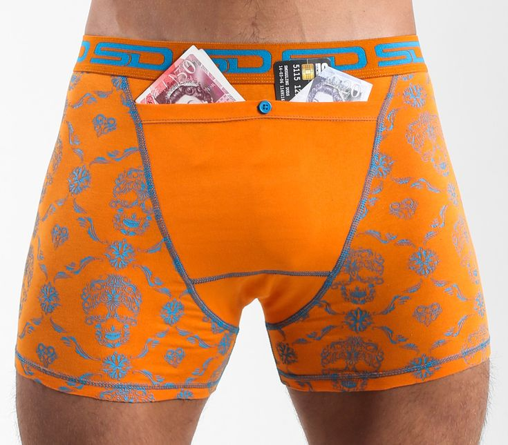 Skull Check Smuggling Duds Boxer Briefs is from The Core Collection that has our new design registered bigger stash pocket to keep more of your valuables safe.