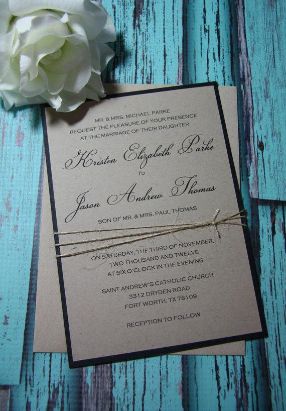 Country Chic Wedding Invitations/Rustic by TorisCustomCreations