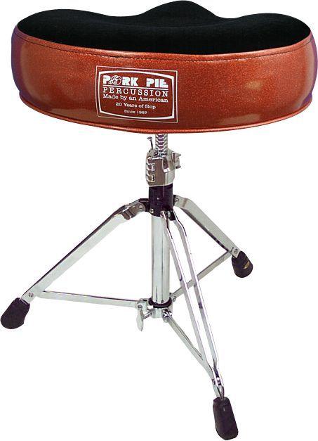 Pork Pie 20th Anniversary Drum Throne Orange Sparkle