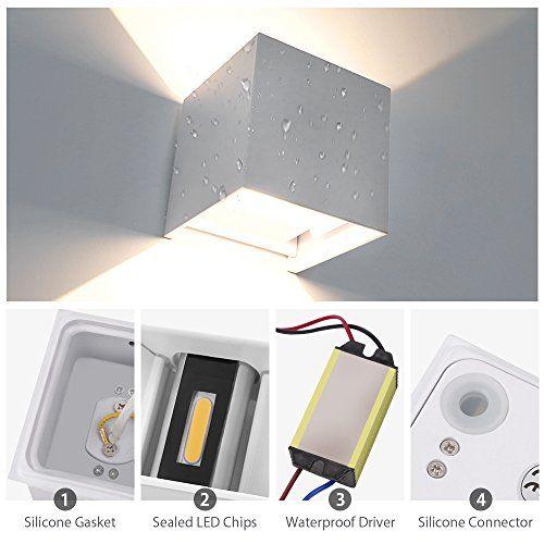 7W LED Wandlampen Wandleuchte Treppenhaus, IP65 Wa