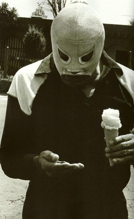 el santo with ice cream
