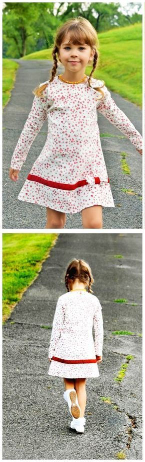 Tunik-Kleid für Kinder zum Selbernähen - Nähanleitung und Schnittmuster via Makerist.de