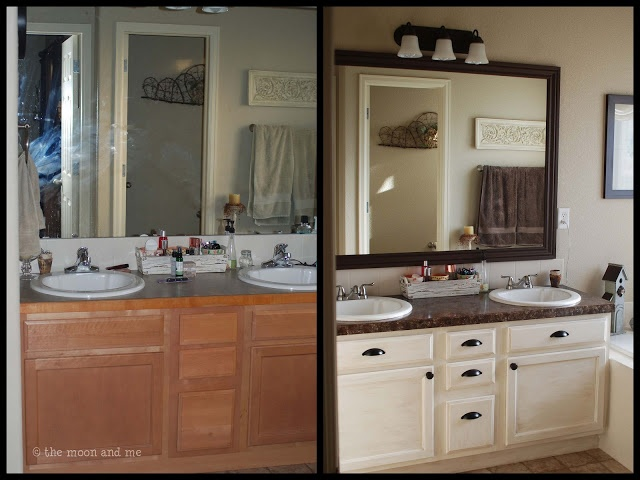 Bathroom transformation on a budget {Newbie spotlight} - Debbiedoos