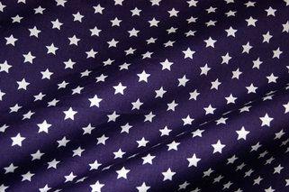 NB 1266-45 Katoen kleine sterretjes donkerpaars