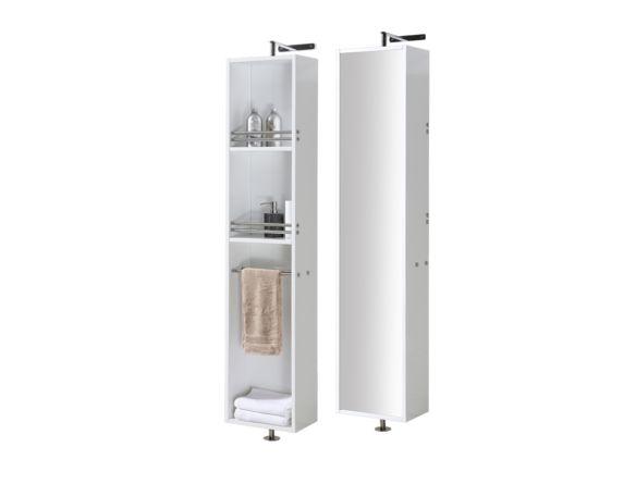 Lingerie pivotante avec p le tablettes et miroir au dos lingeries mobiliers de salle de - Lingerie salle de bain ...