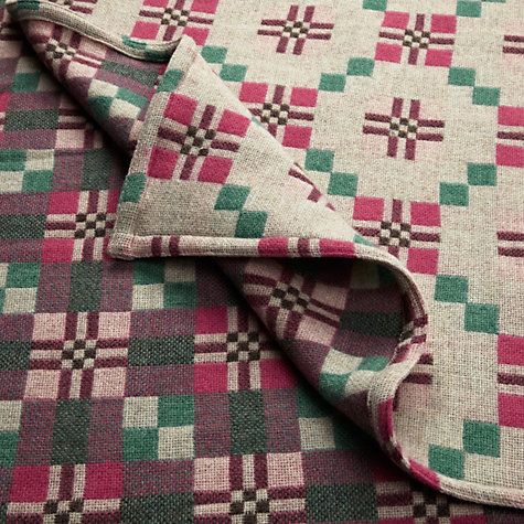 "Buy Melin Tregwynt St David's Cross Throw Online at johnlewis.com ""£135"""
