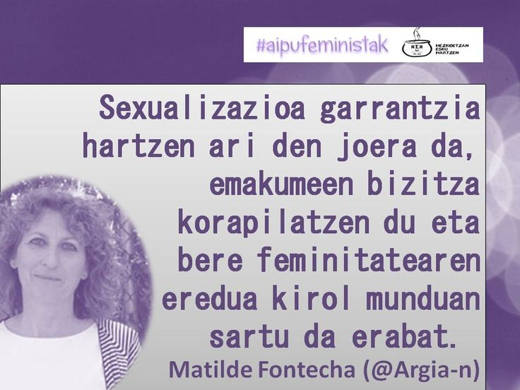 Emakume kirolarien sexualizazioa Matilde Fontecharen eskutik @argian http://www.argia.eus/albistea/emakume-kirolarien-sexualizazioa-indartzen-ari-den-diskriminazioa … #AipuFeministak
