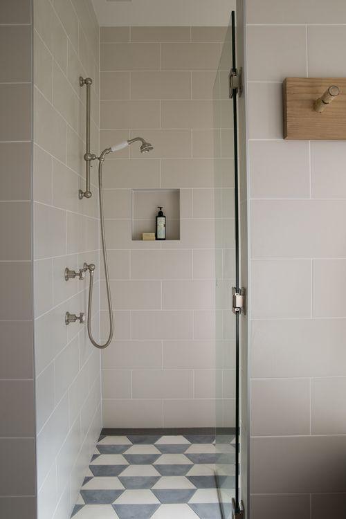 Suzanne Gorman Projects bathroom with popham design Hex Demi handmade cement tiles