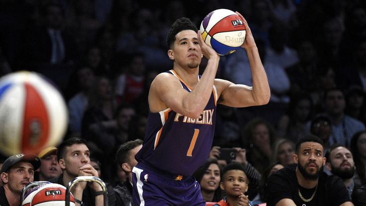 Suns Devin Booker breaks Steph Curry-Klay Thompson record in winning Three-Point Contest