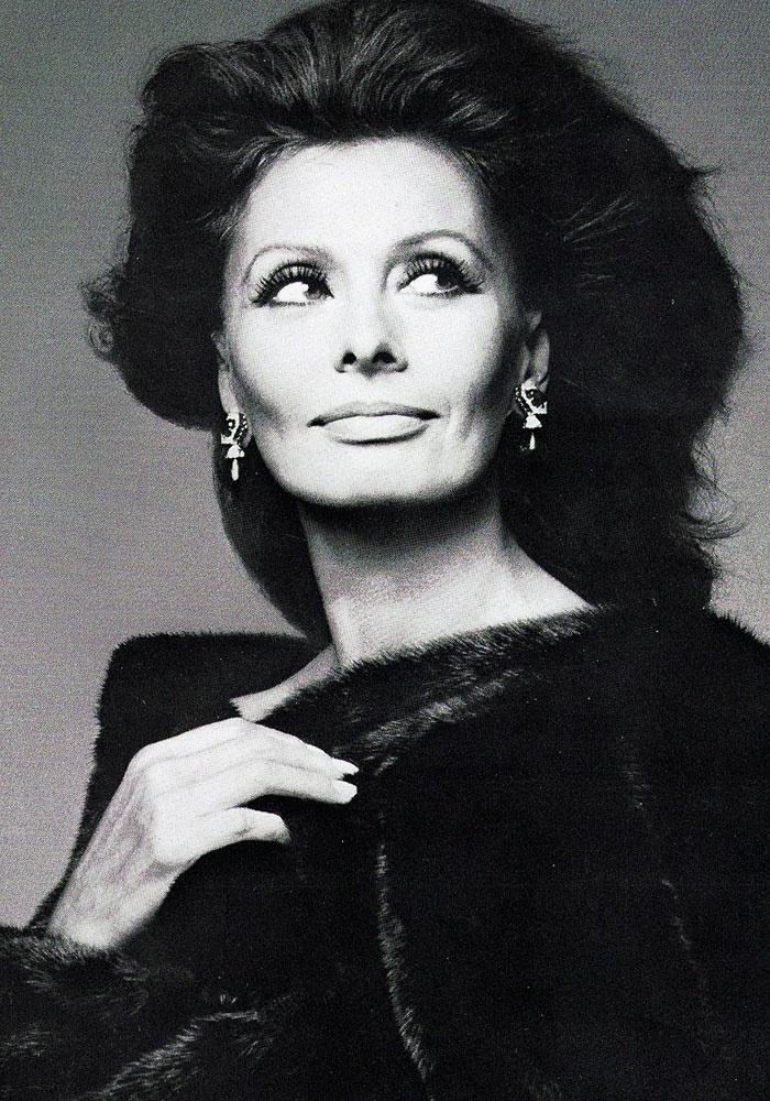 BLACKGLAMA; Sophia Loren 1982