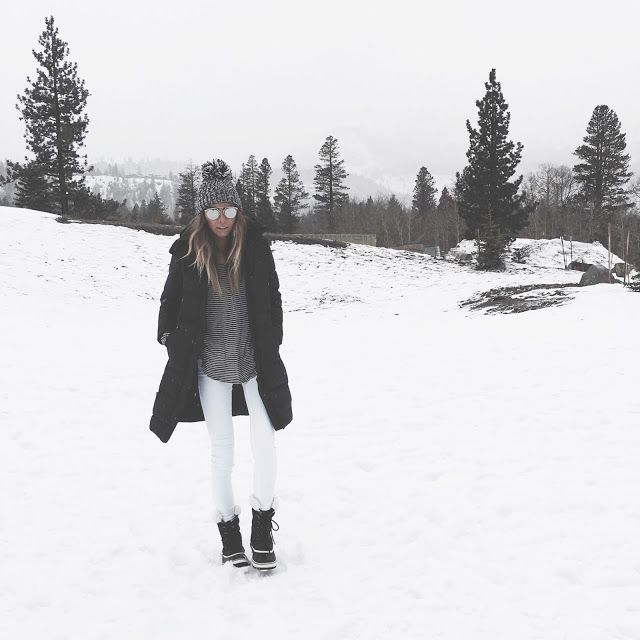 dior shades  | paige tee  + denim  | patagonia jacket  | sorel boots