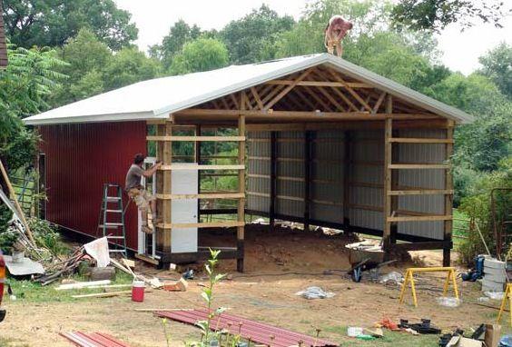 Wood pole barn plans free barn shed or storage for Pole barn designs free