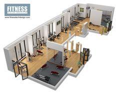 3D Gym Design & 3D Fitness Layout Portfolio | Fitness Tech Design