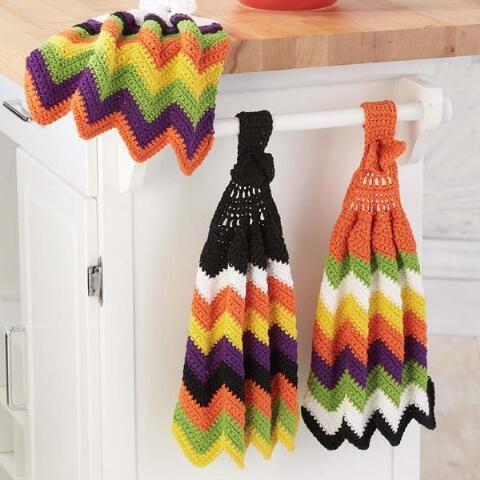 Herrschners® Halloween Ripple Towels Crochet Yarn Kit