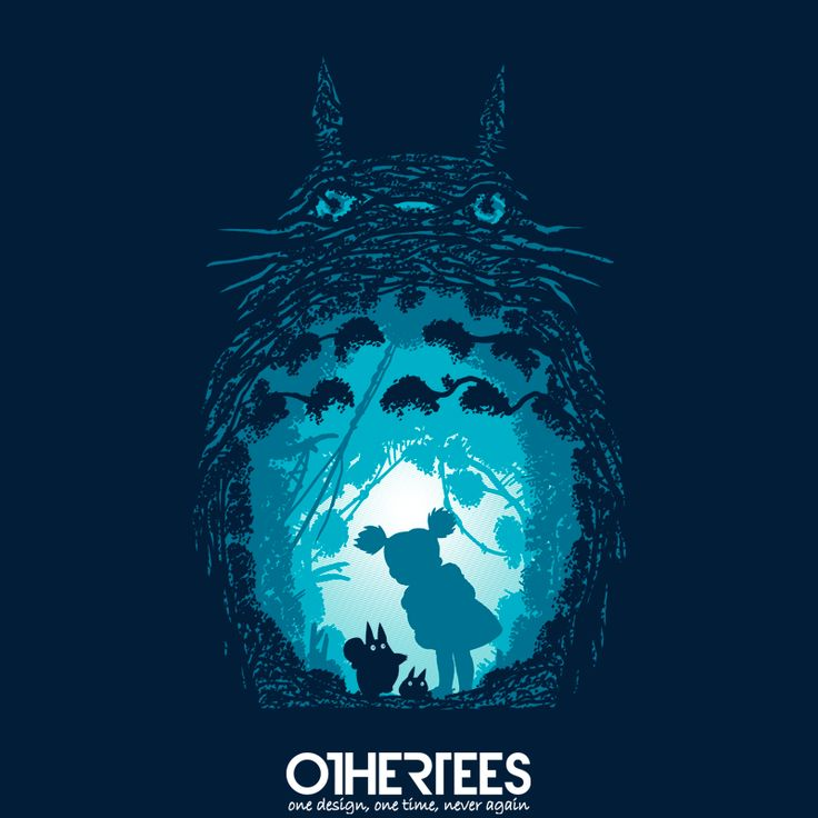"""""""Forest Spirits"""" by ddjvigo T-shirts on sale until 16th September at Othertees.com Pin it for a chance at a FREE TEE! #totoro #ghibli #myneighbortotoro #miyazaki"""