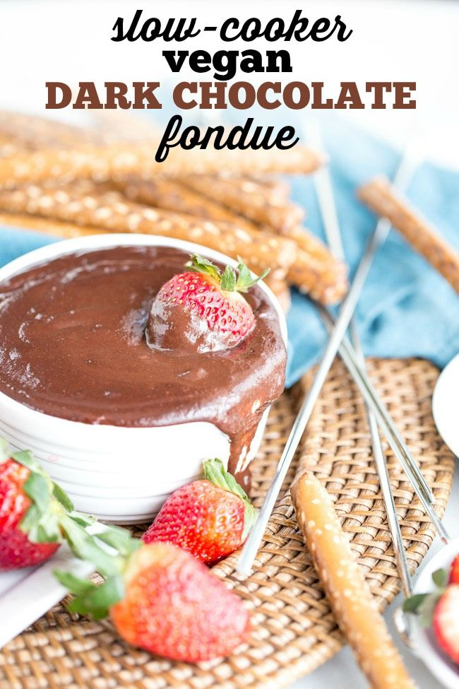 Dark Chocolate Fondue In Crockpot