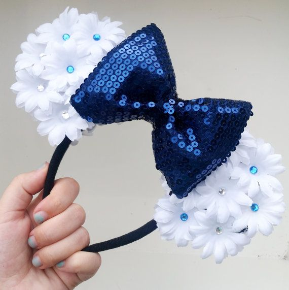Hey, I found this really awesome Etsy listing at https://www.etsy.com/listing/238716513/minnie-ears-mouse-ears-floral-ears-60th