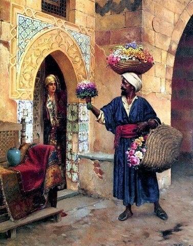 The Flower Seller - Rudolf Ernst (Austrian 1854–1932)