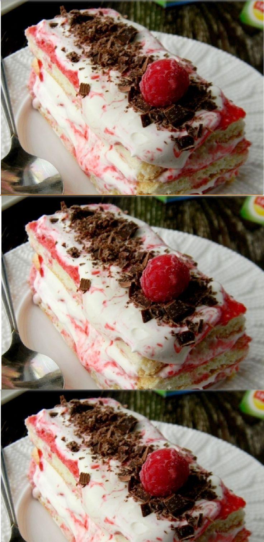 """PASTEL """"CHARM FRAMBUESA"""" paso a paso guarda en su tablero ese Pin Pastel """"Frambuesa encanto"""" es un pastel de galleta con salsa de frambuesa y crema cremoso. Suave, dulce y muy sabroso."""
