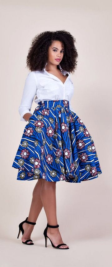 Fami Skirt. Relaxed yet sophisticated and, best of all, universally flattering – just look how it nips in the waist – a full, high waisted skirt. Ankara   Dutch wax   Kente   Kitenge   Dashiki   African print bomber jacket   African fashion   Ankara bomber jacket   African prints   Nigerian style   Ghanaian fashion   Senegal fashion   Kenya fashion   Nigerian fashion   Ankara midi skirt (affiliate)