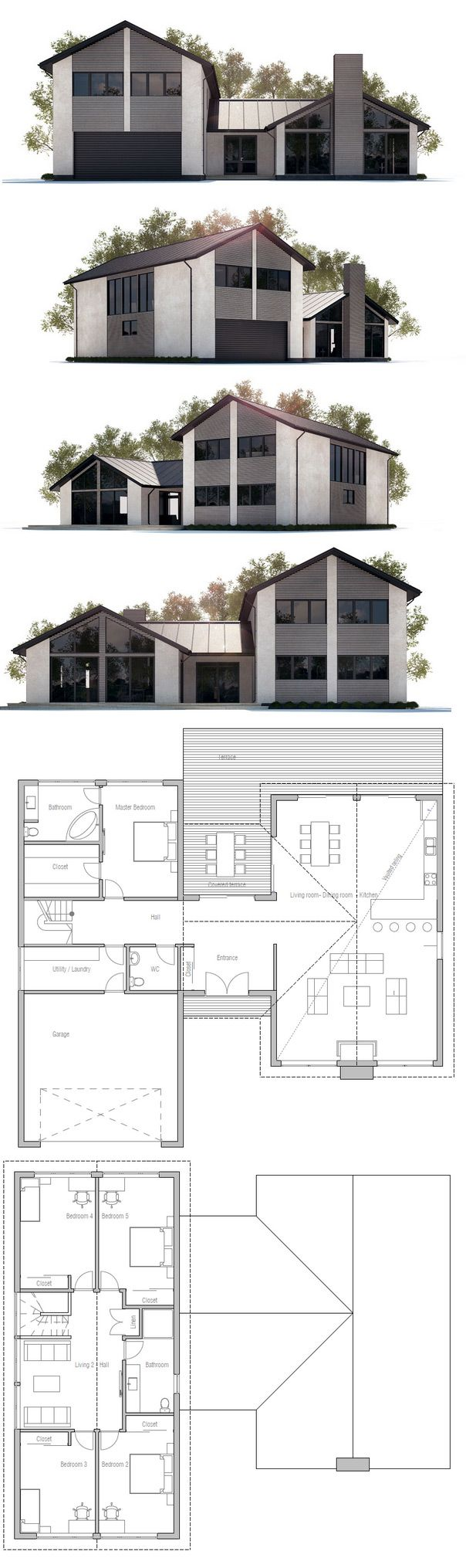 Les 25 meilleures id es de la cat gorie plan maison etage for Plan maison minimaliste
