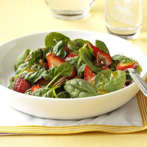 Strawberry Spinach Salad with Poppy Seed Dressing Recipe from Taste of Home -- shared by Erin Loughmiller of Ridgecrest, California