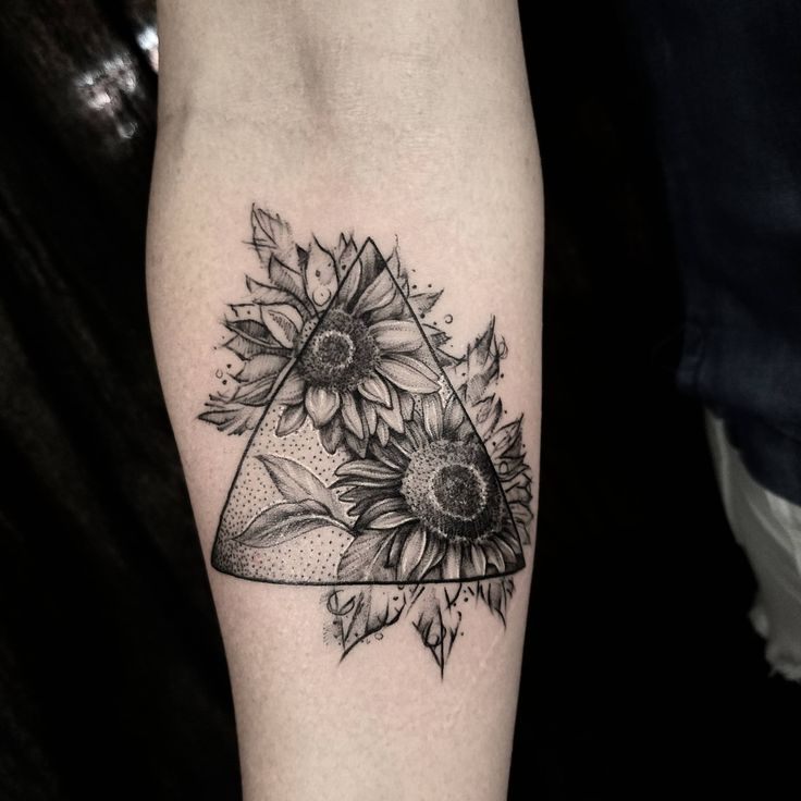 Sunflowers done by Patrick Thomas (me) at Tattoo Lounge Los Angeles Ca