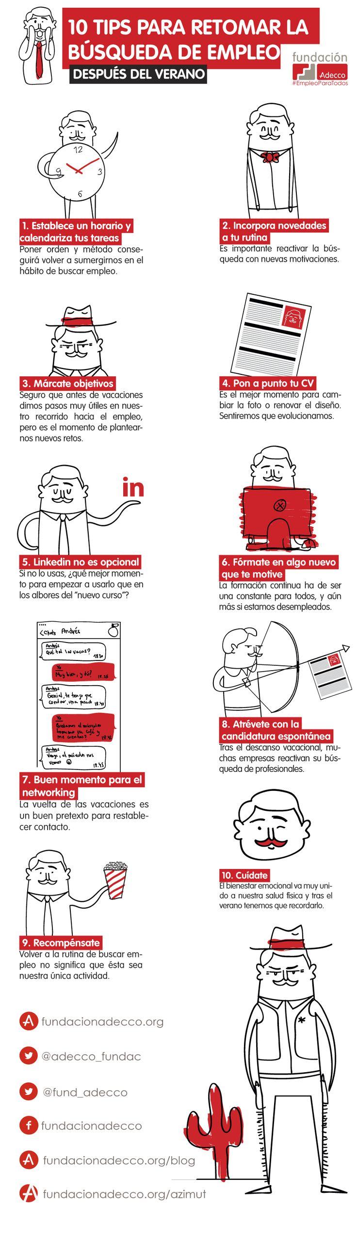 ¿Cómo buscar empleo acabado el verano? @prixline #trabajo #empleo #formacion