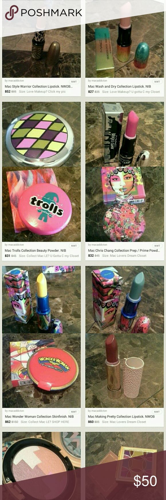 Offers Accepted Ship TODAY Love Makeup?   Want only Authentic items. Guaranteed?   Seeking a trusted seller with over 100 rave reviews   Expect quick shipping?   Then you found the right closet!   ★★Click on my profile pic to check out my closet★★  Guerlain, Givenchy, Jeffree Star, Mac LE Galore, Too Faced, Tom Ford, Marc Jacobs and more   You're bound to find something you love   Accepting all REASONABLE offers   THIS LISTING NOT 4 SALE, JUST ADVERTISING MY CLOSET MAC Cosmetics Makeup…