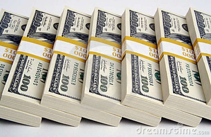 stack 100 dollar Bills | Stack of Ten Thousand Dollar Piles of One Hundred Dollar Bills on a ...