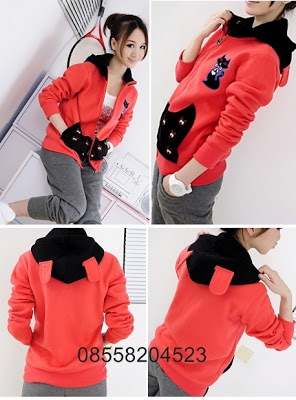Red Cat Jacket - IDR 140.000 ~http://www.outfitorganizer.com/2012/11/red-cat-jacket-idr-140000.html