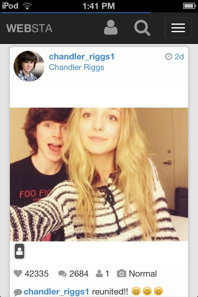 Chandler Riggs and Hana hayes