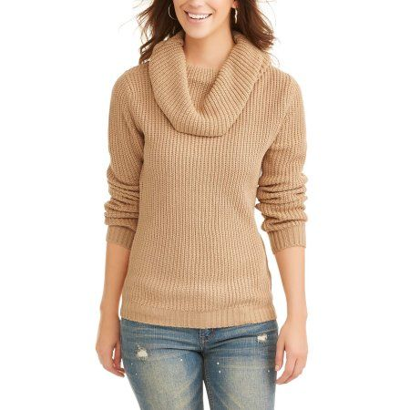 Willow & Wind Women's Cowl Neck Sweater, Size: Small, Beige