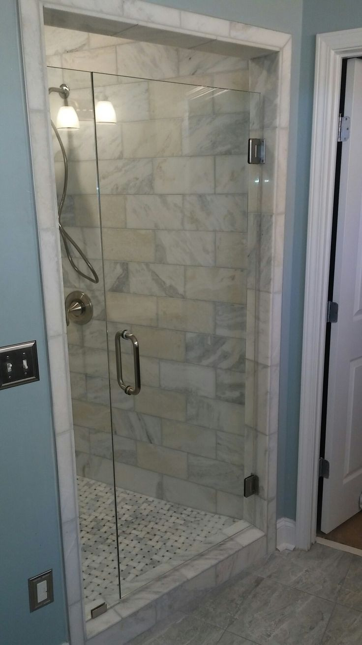 Inline frameless shower door in Roswell by Peachstate Glass  Get your free  estimate by contacting. 17 Best ideas about Frameless Shower on Pinterest   Frameless