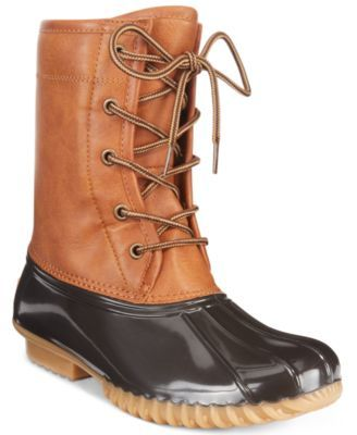 The Original Duck Boot Arianna Boots $29.50 The Original Duck Boot's Arianna boots are all about stylish protection from the elements.