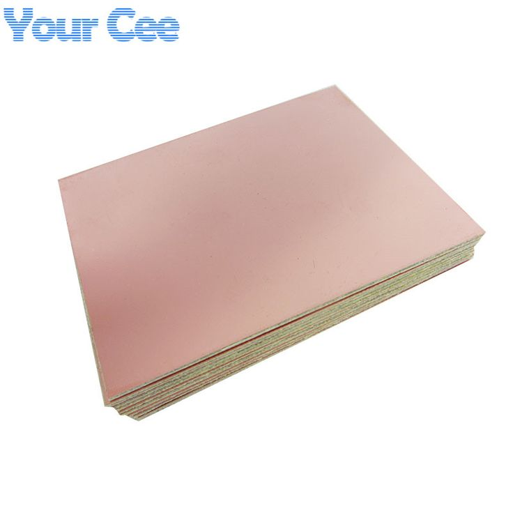 5ピースエポキシ繊維fr4銅張積層板回路基板ダブルサイドpcb 75 × 100 × 1.5ミリメートル10 × 7.5センチdiy 2016新しい