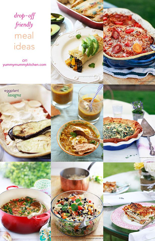 20 Meal Train Recipe Ideas Healthy recipe ideas for those times when you want to bring friends dinner after a new baby or an illness. Pin now so you know where to find this post when you need it.