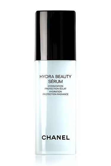 The Secrets To Gorgeous, Glowing Skin: Step 1: Start With a Dewy Base  Chanel Hydra Beauty Sérum, chanel.com.