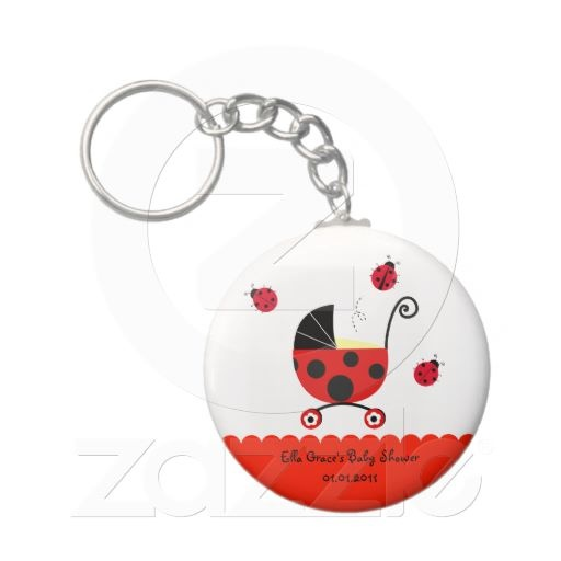 ladybug baby shower party favor keychains baby shower parties baby